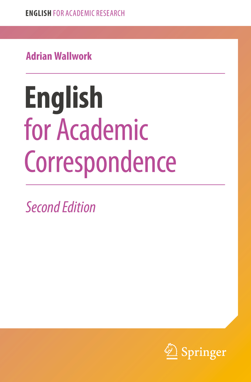 Wallwork, Adrian - English for Academic Correspondence, ebook