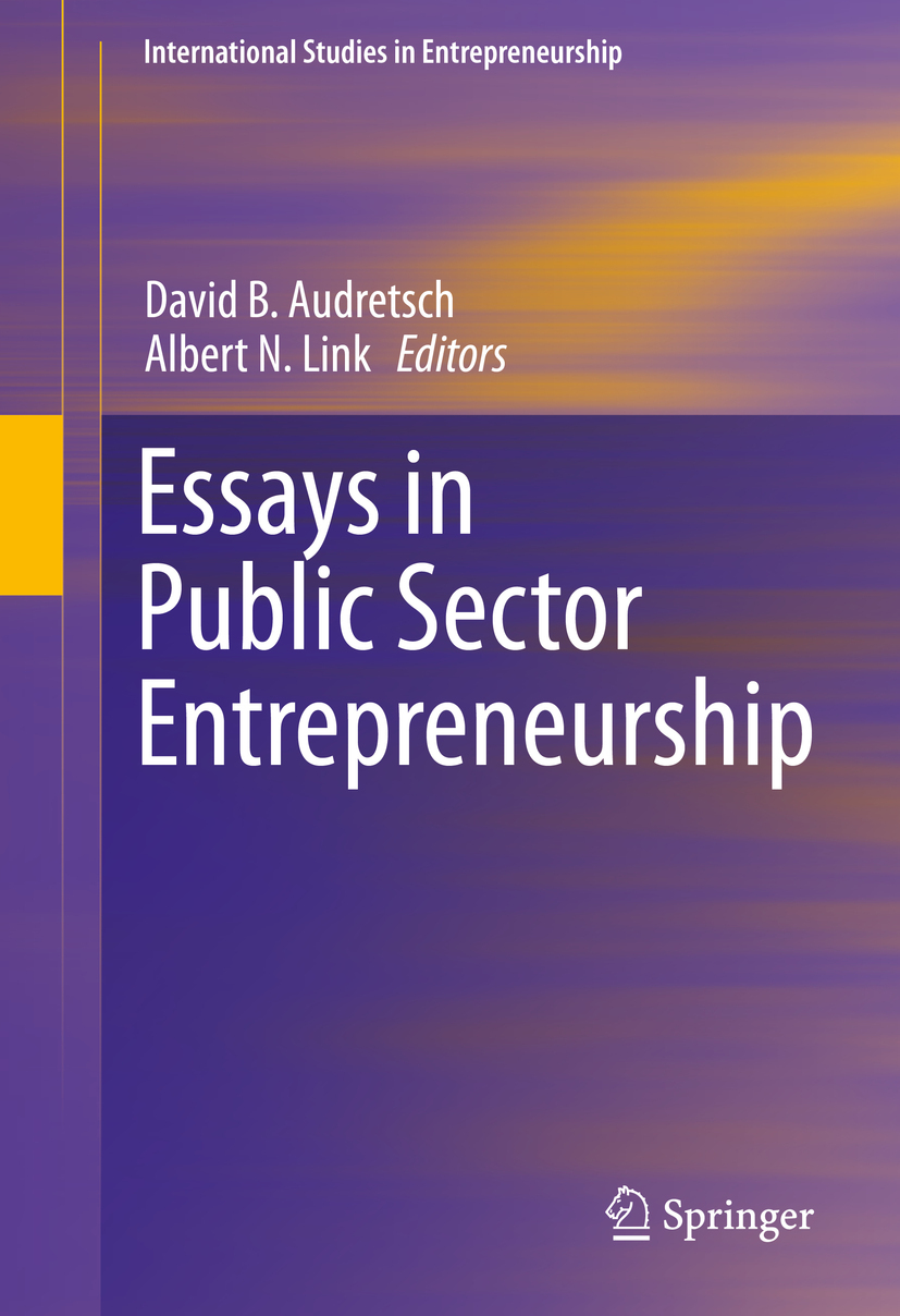 Audretsch, David B. - Essays in Public Sector Entrepreneurship, ebook