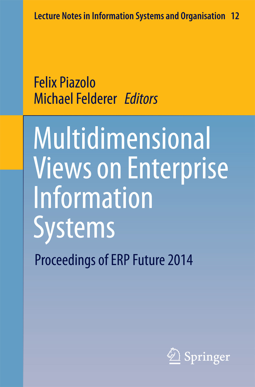 Felderer, Michael - Multidimensional Views on Enterprise Information Systems, ebook
