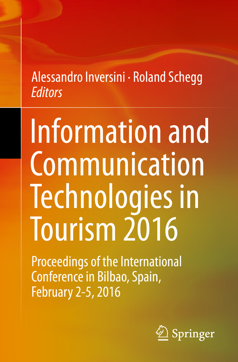 Inversini, Alessandro - Information and Communication Technologies in Tourism 2016, ebook