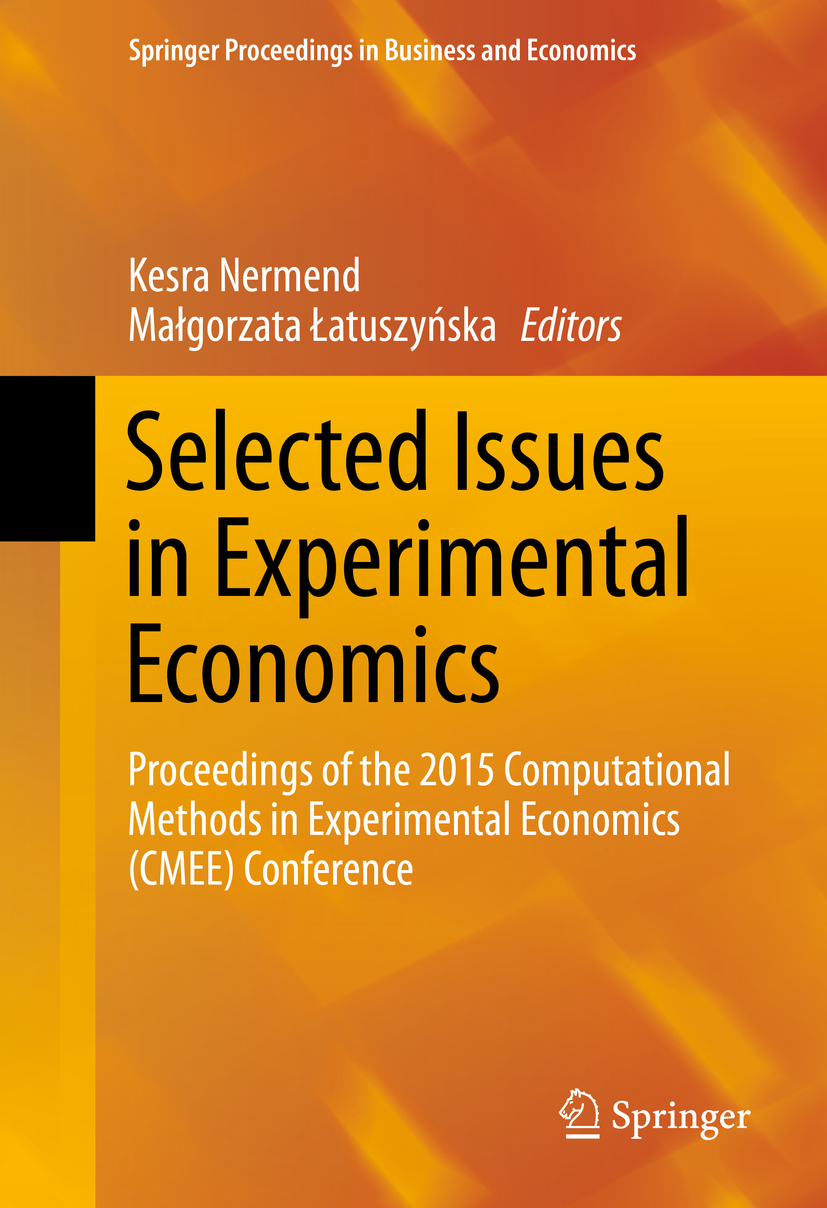 Nermend, Kesra - Selected Issues in Experimental Economics, ebook