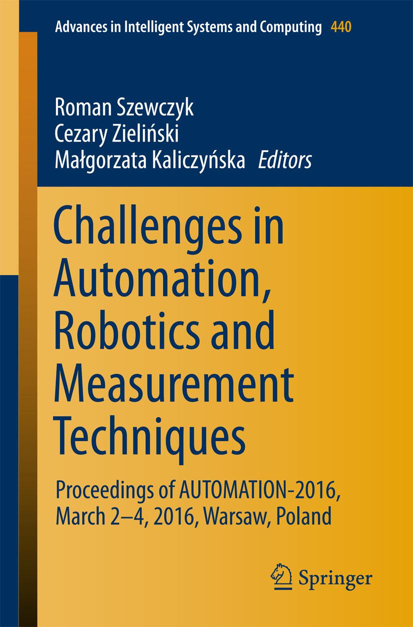 Kaliczyńska, Małgorzata - Challenges in Automation, Robotics and Measurement Techniques, ebook