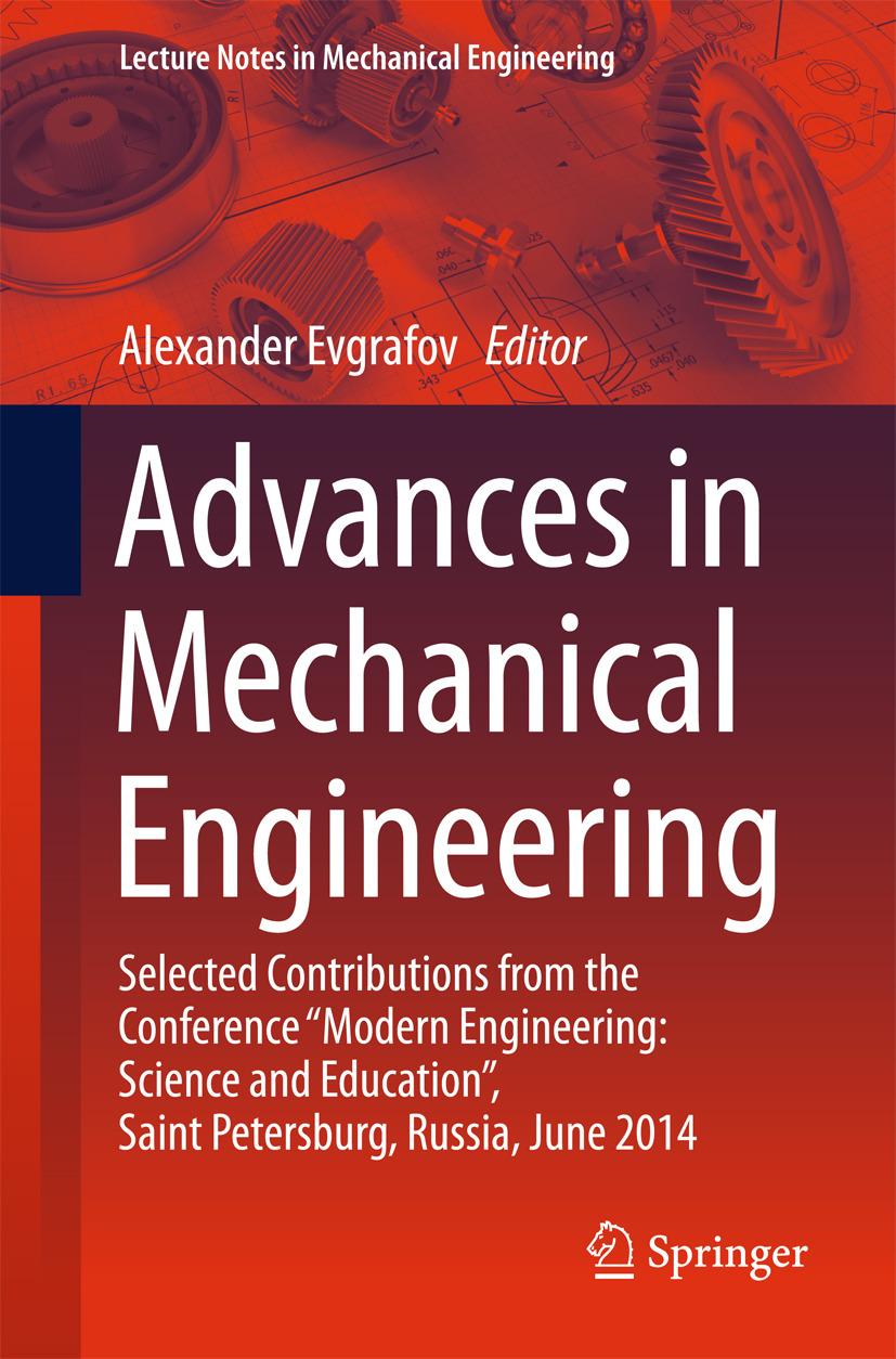 Evgrafov, Alexander - Advances in Mechanical Engineering, ebook
