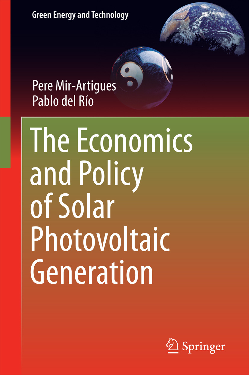 Mir-Artigues, Pere - The Economics and Policy of Solar Photovoltaic Generation, ebook