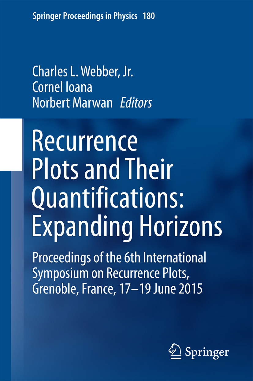 Ioana, Cornel - Recurrence Plots and Their Quantifications: Expanding Horizons, ebook
