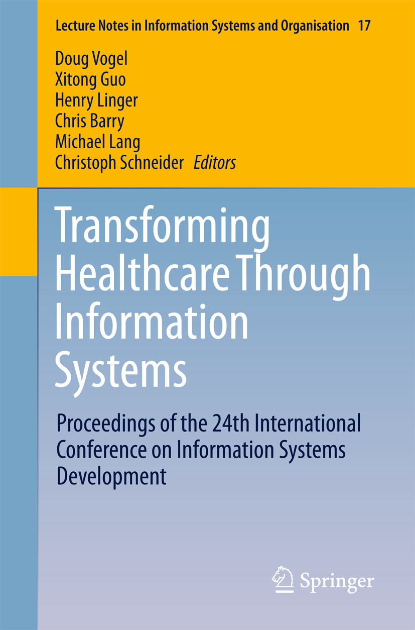 Barry, Chris - Transforming Healthcare Through Information Systems, e-kirja