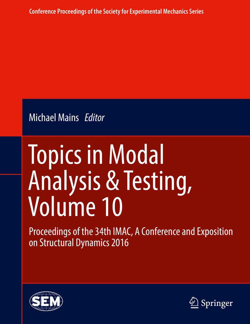 Mains, Michael - Topics in Modal Analysis & Testing, Volume 10, ebook