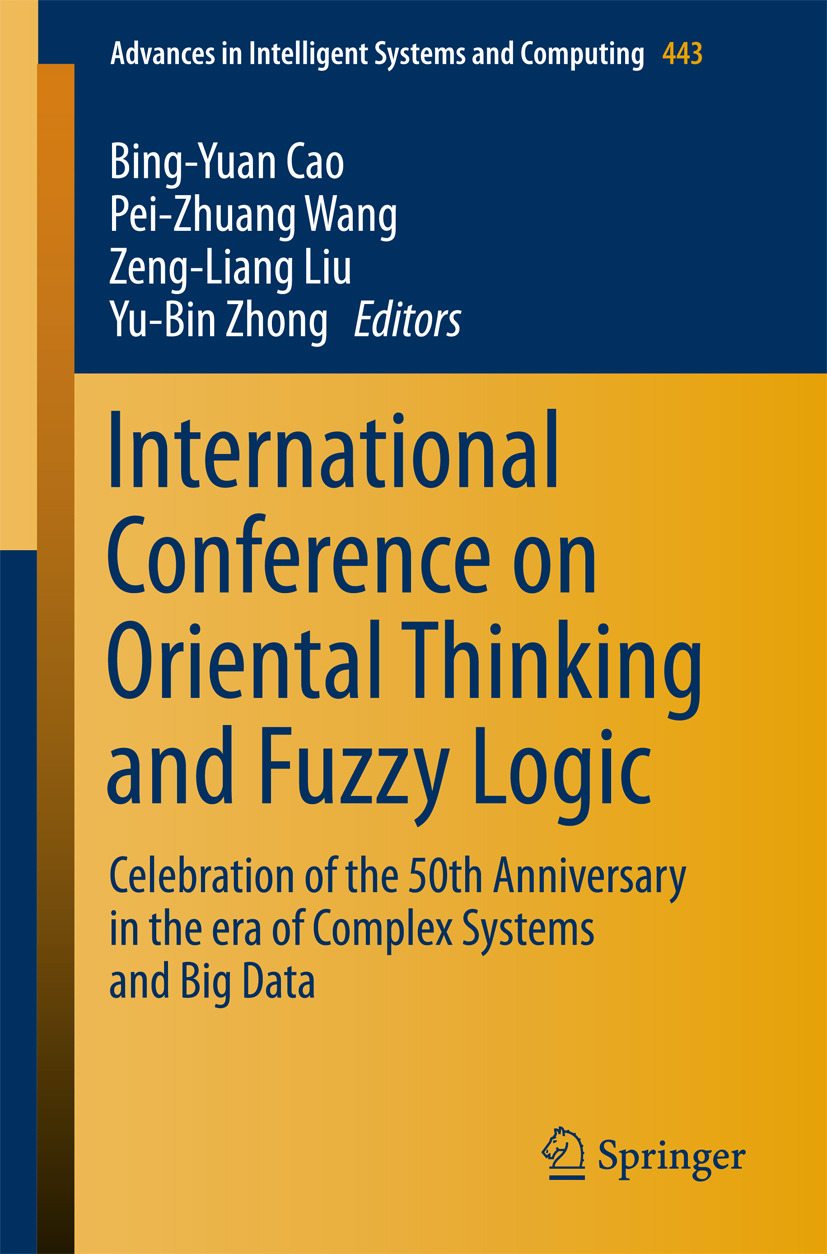Cao, Bing-Yuan - International Conference on Oriental Thinking and Fuzzy Logic, ebook