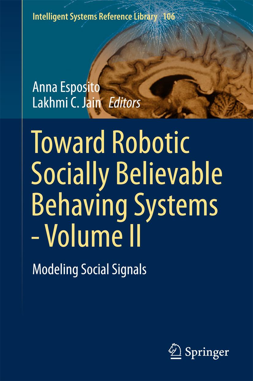 Esposito, Anna - Toward Robotic Socially Believable Behaving Systems - Volume II, ebook