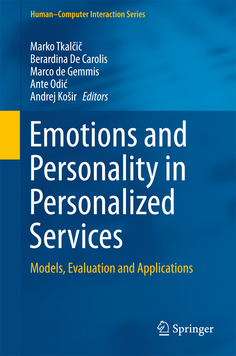 Carolis, Berardina De - Emotions and Personality in Personalized Services, ebook