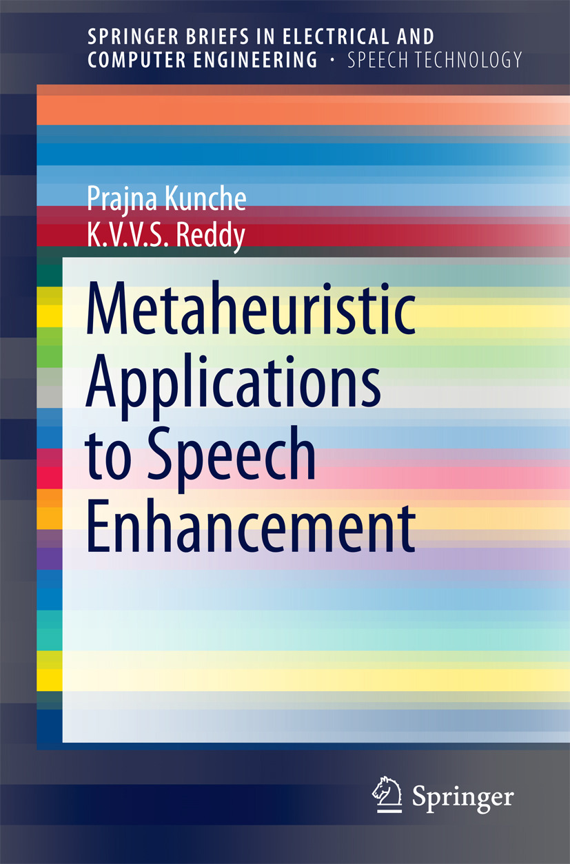 Kunche, Prajna - Metaheuristic Applications to Speech Enhancement, ebook