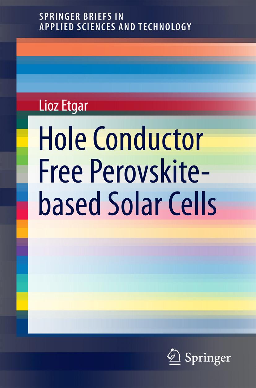 Etgar, Lioz - Hole Conductor Free Perovskite-based Solar Cells, ebook