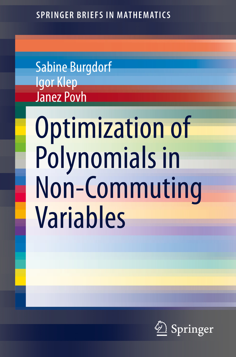 Burgdorf, Sabine - Optimization of Polynomials in Non-Commuting Variables, ebook