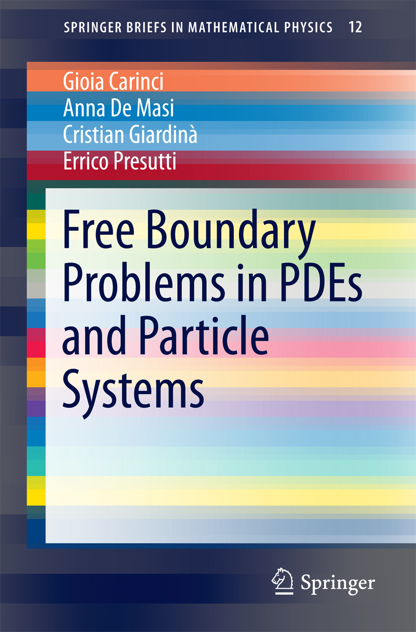 Carinci, Gioia - Free Boundary Problems in PDEs and Particle Systems, ebook