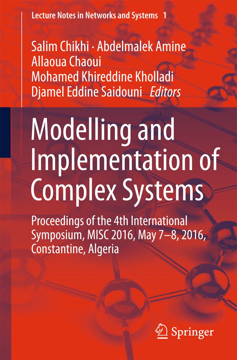 Amine, Abdelmalek - Modelling and Implementation of Complex Systems, ebook
