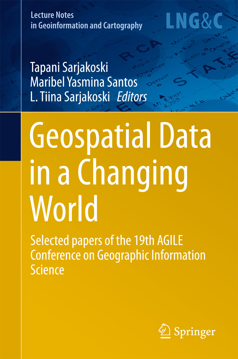 Santos, Maribel Yasmina - Geospatial Data in a Changing World, e-bok