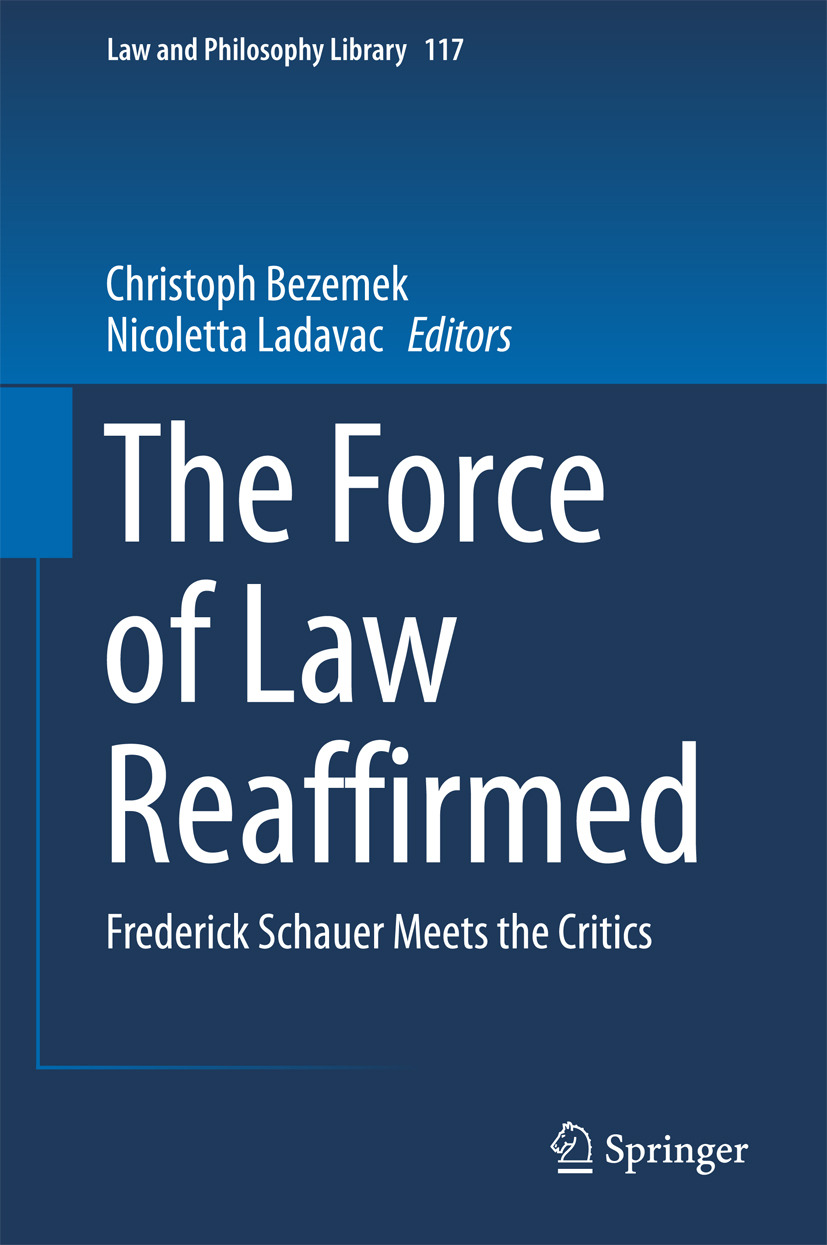 Bezemek, Christoph - The Force of Law Reaffirmed, ebook