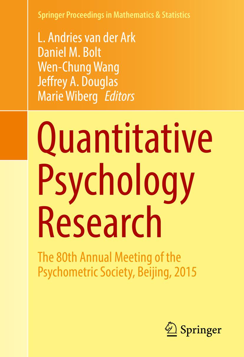 Ark, L. Andries van der - Quantitative Psychology Research, ebook
