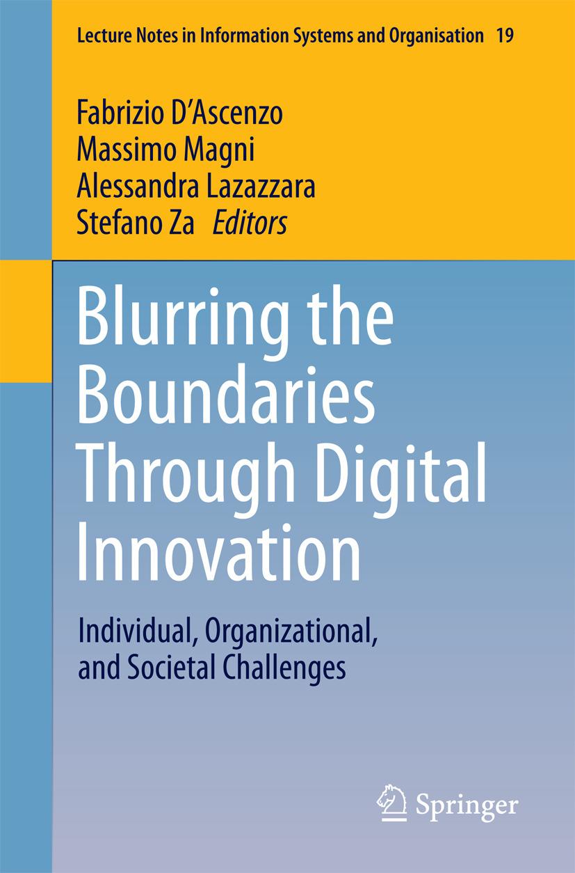 D'Ascenzo, Fabrizio - Blurring the Boundaries Through Digital Innovation, ebook