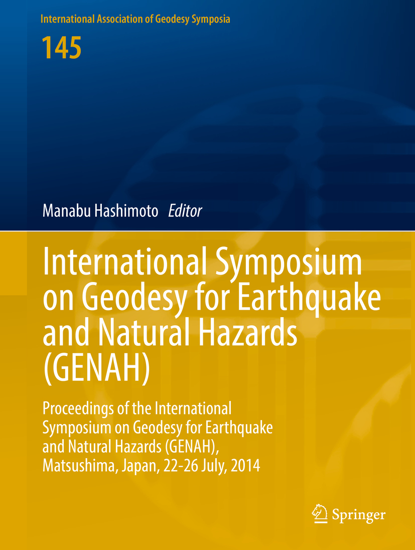 Hashimoto, Manabu - International Symposium on Geodesy for Earthquake and Natural Hazards (GENAH), ebook
