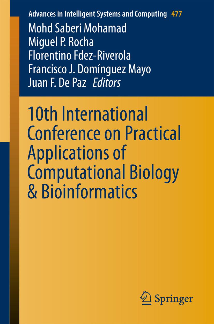 Fdez-Riverola, Florentino - 10th International Conference on Practical Applications of Computational Biology & Bioinformatics, ebook