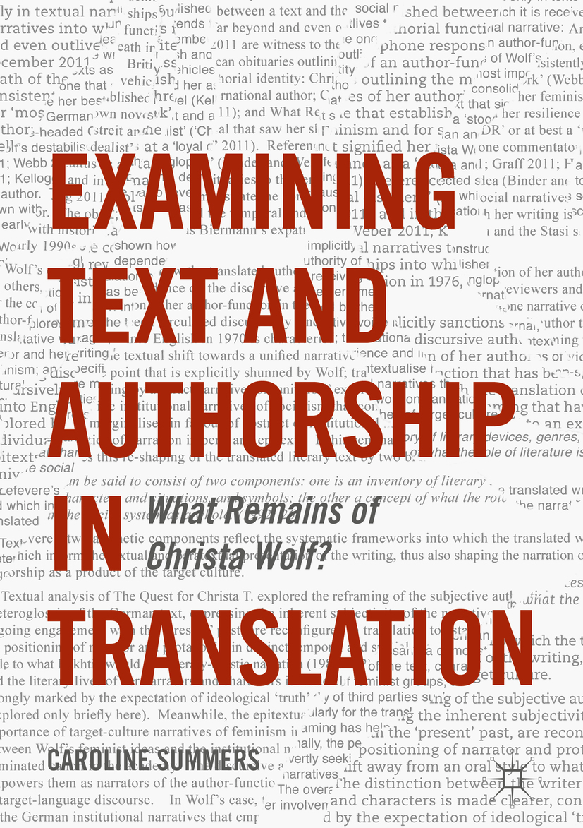 Summers, Caroline - Examining Text and Authorship in Translation, ebook