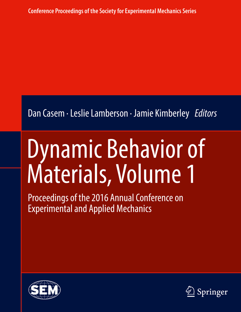 Casem, Dan - Dynamic Behavior of Materials, Volume 1, ebook
