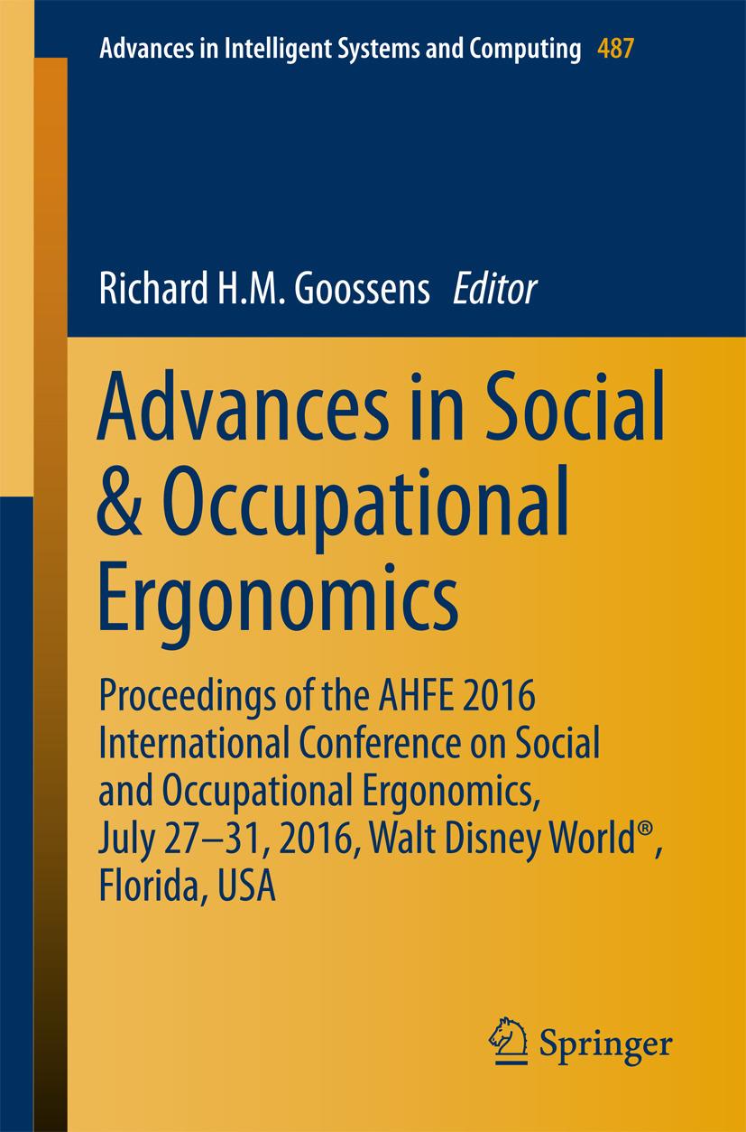 Goossens, Richard H.M. - Advances in Social & Occupational Ergonomics, ebook