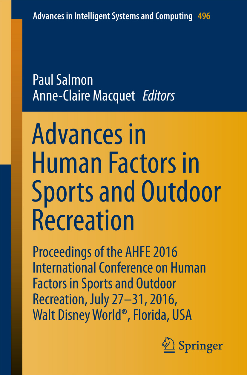 Macquet, Anne-Claire - Advances in Human Factors in Sports and Outdoor Recreation, ebook