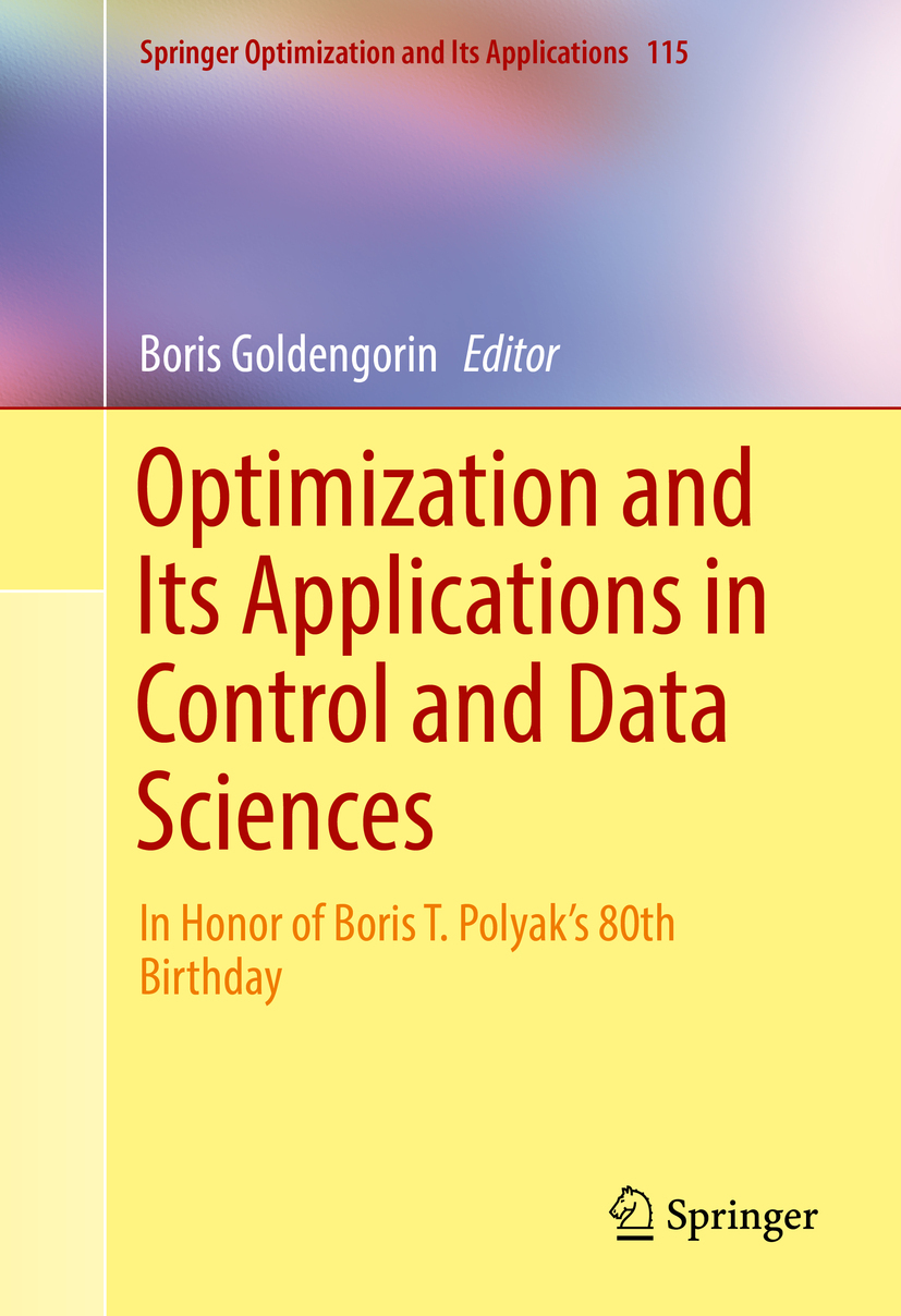 Goldengorin, Boris - Optimization and Its Applications in Control and Data Sciences, ebook