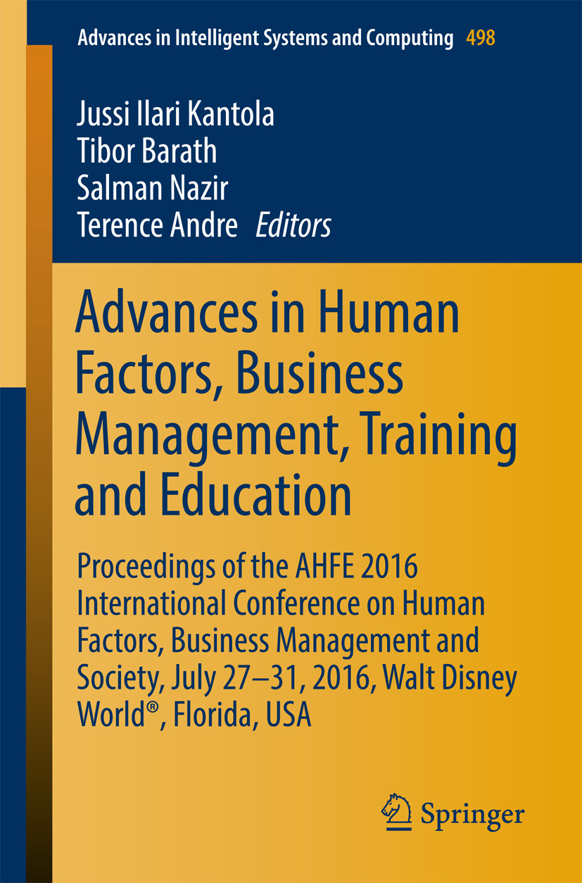 Andre, Terence - Advances in Human Factors, Business Management, Training and Education, ebook