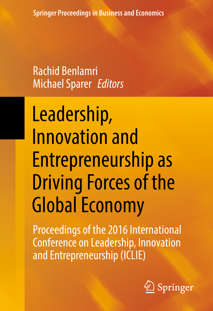 Benlamri, Rachid - Leadership, Innovation and Entrepreneurship as Driving Forces of the Global Economy, ebook