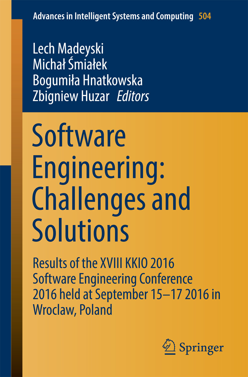 Hnatkowska, Bogumiła - Software Engineering: Challenges and Solutions, ebook