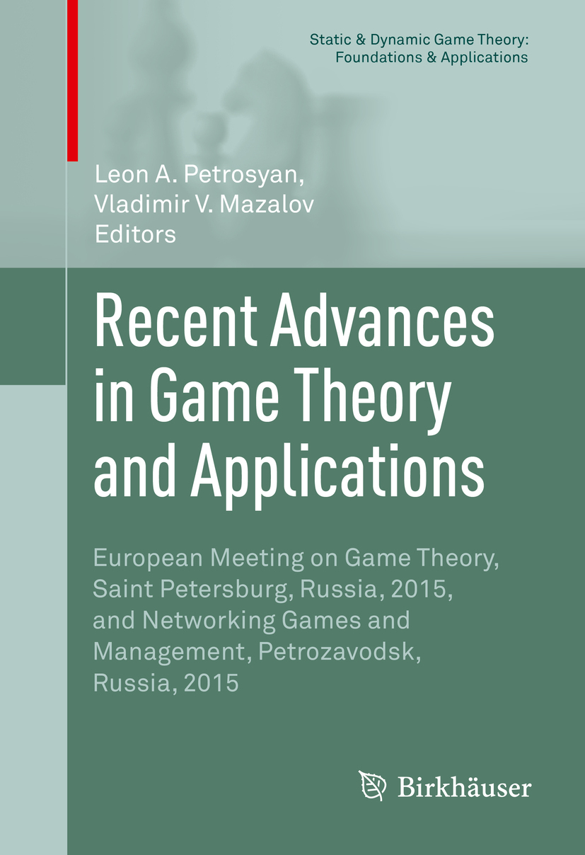 Mazalov, Vladimir V. - Recent Advances in Game Theory and Applications, ebook