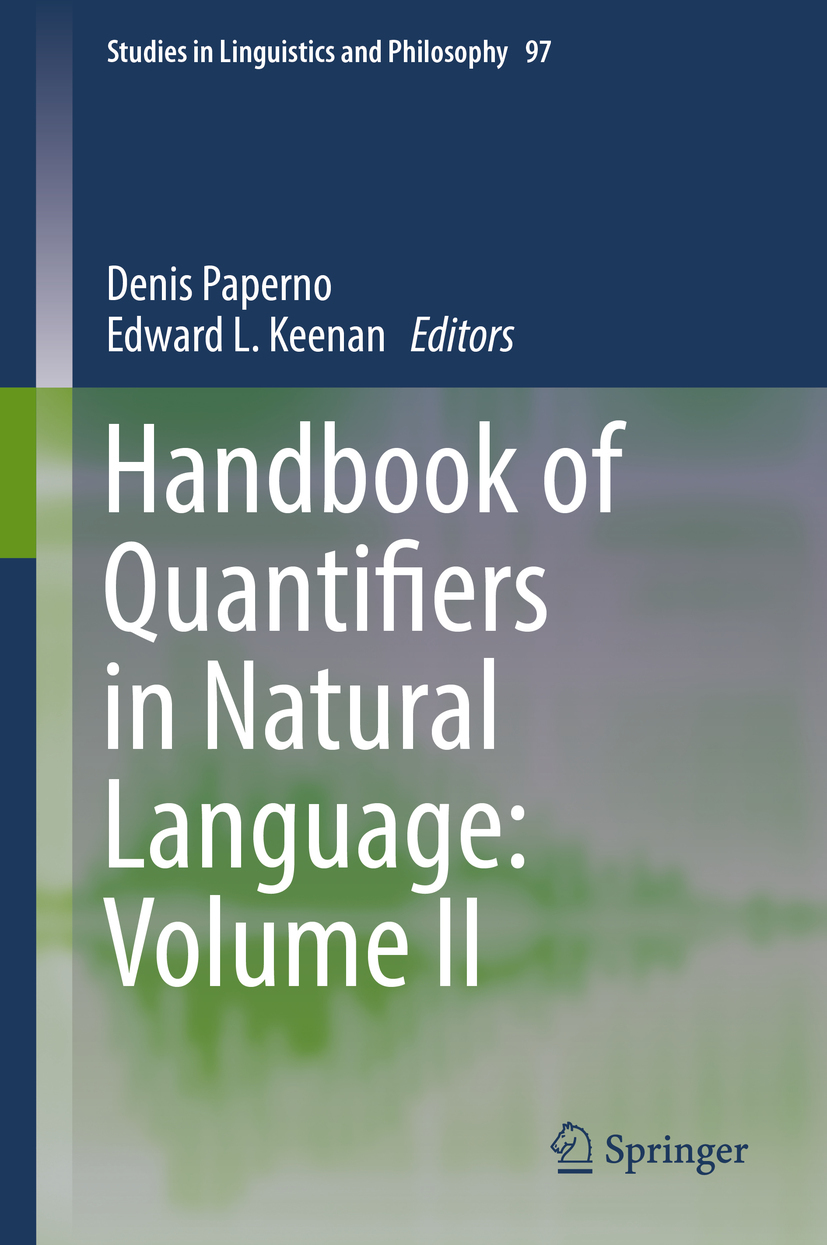 Keenan, Edward L. - Handbook of Quantifiers in Natural Language: Volume II, ebook