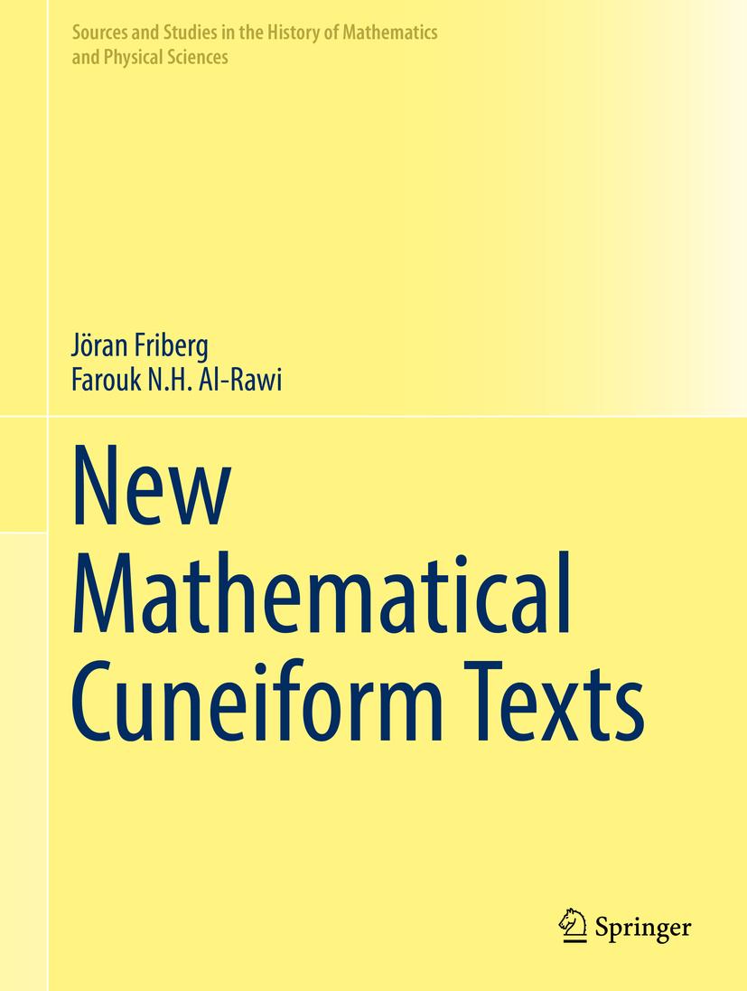 Al-Rawi, Farouk N.H. - New Mathematical Cuneiform Texts, ebook