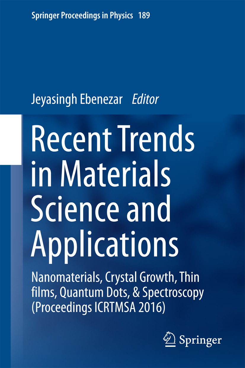 Ebenezar, Jeyasingh - Recent Trends in Materials Science and Applications, ebook