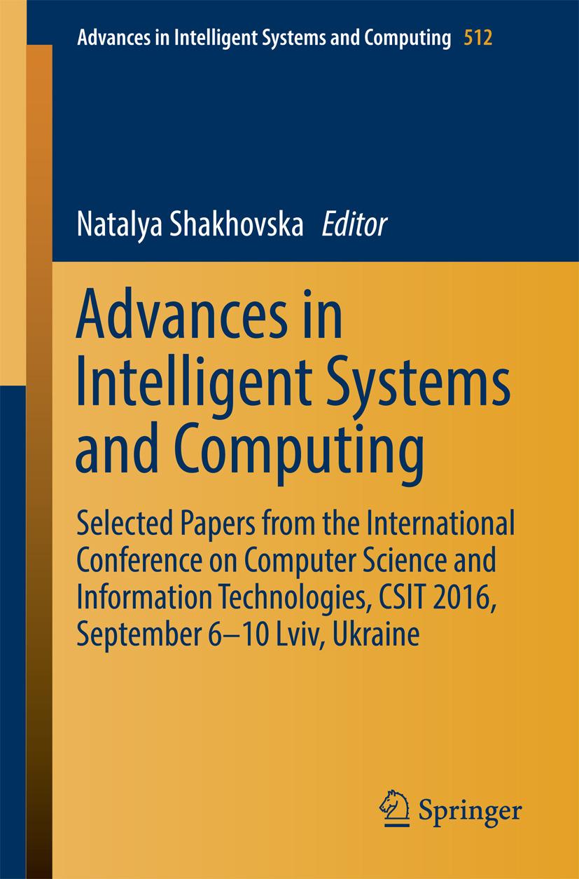 Shakhovska, Natalya - Advances in Intelligent Systems and Computing, ebook