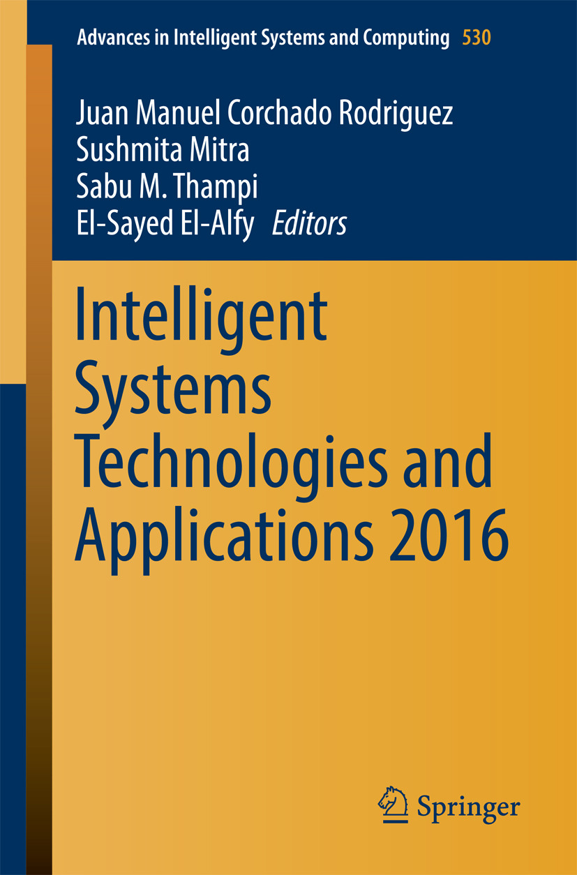 El-Alfy, El-Sayed - Intelligent Systems Technologies and Applications 2016, ebook