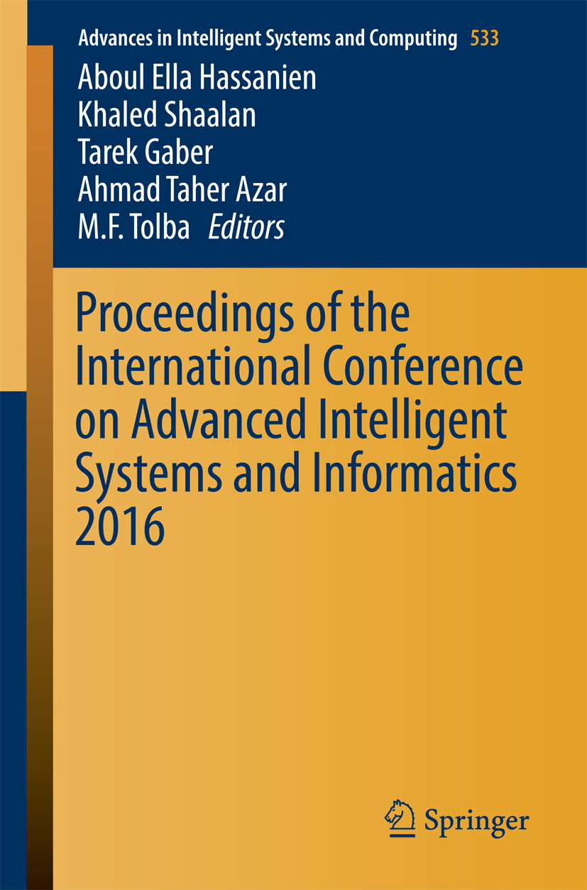 Azar, Ahmad Taher - Proceedings of the International Conference on Advanced Intelligent Systems and Informatics 2016, ebook