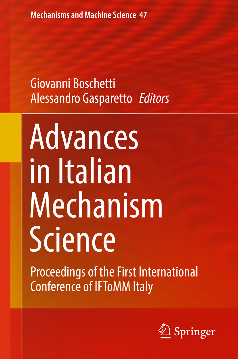 Boschetti, Giovanni - Advances in Italian Mechanism Science, ebook