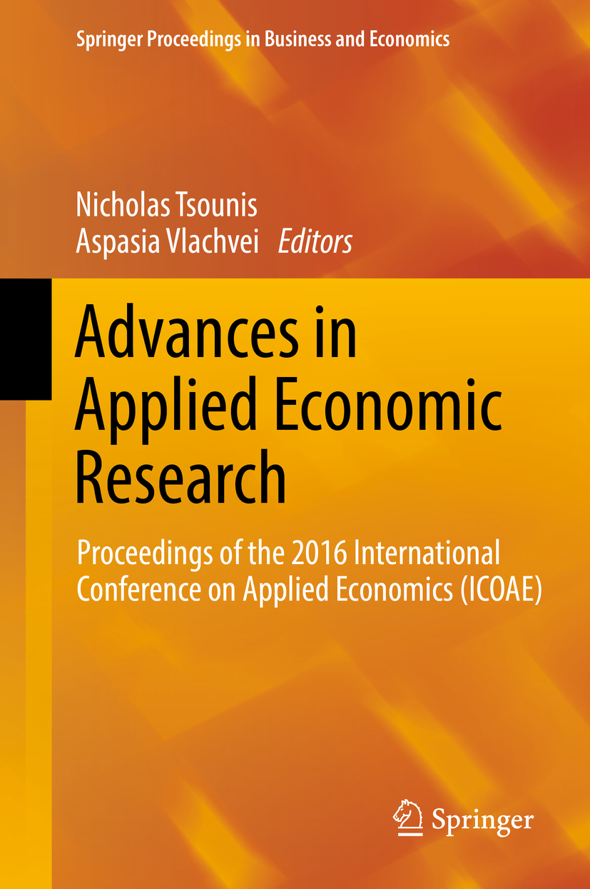 Tsounis, Nicholas - Advances in Applied Economic Research, e-kirja