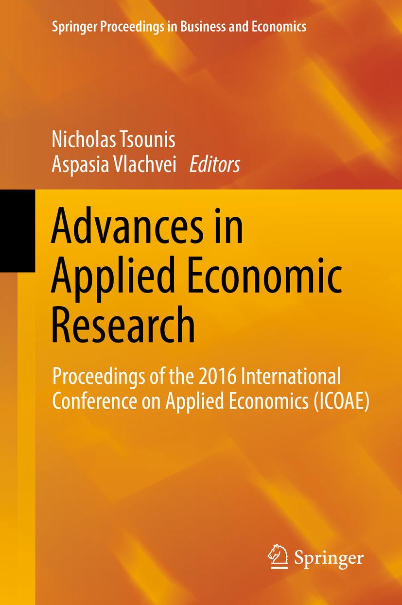 Tsounis, Nicholas - Advances in Applied Economic Research, ebook