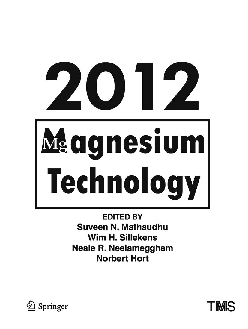 Hort, Norbert - Magnesium Technology 2012, ebook