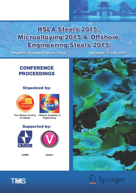 - HSLA Steels 2015, Microalloying 2015 & Offshore Engineering Steels 2015, ebook