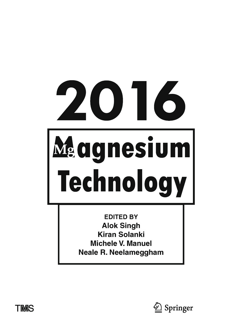 Manuel, Michele V. - Magnesium Technology 2016, ebook