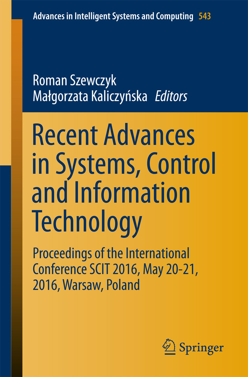 Kaliczyńska, Małgorzata - Recent Advances in Systems, Control and Information Technology, e-bok