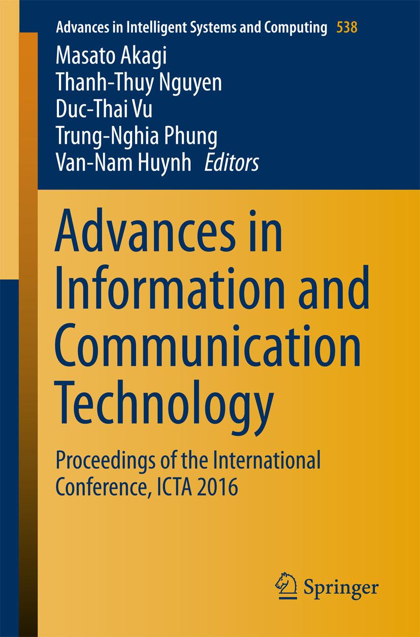 Akagi, Masato - Advances in Information and Communication Technology, ebook