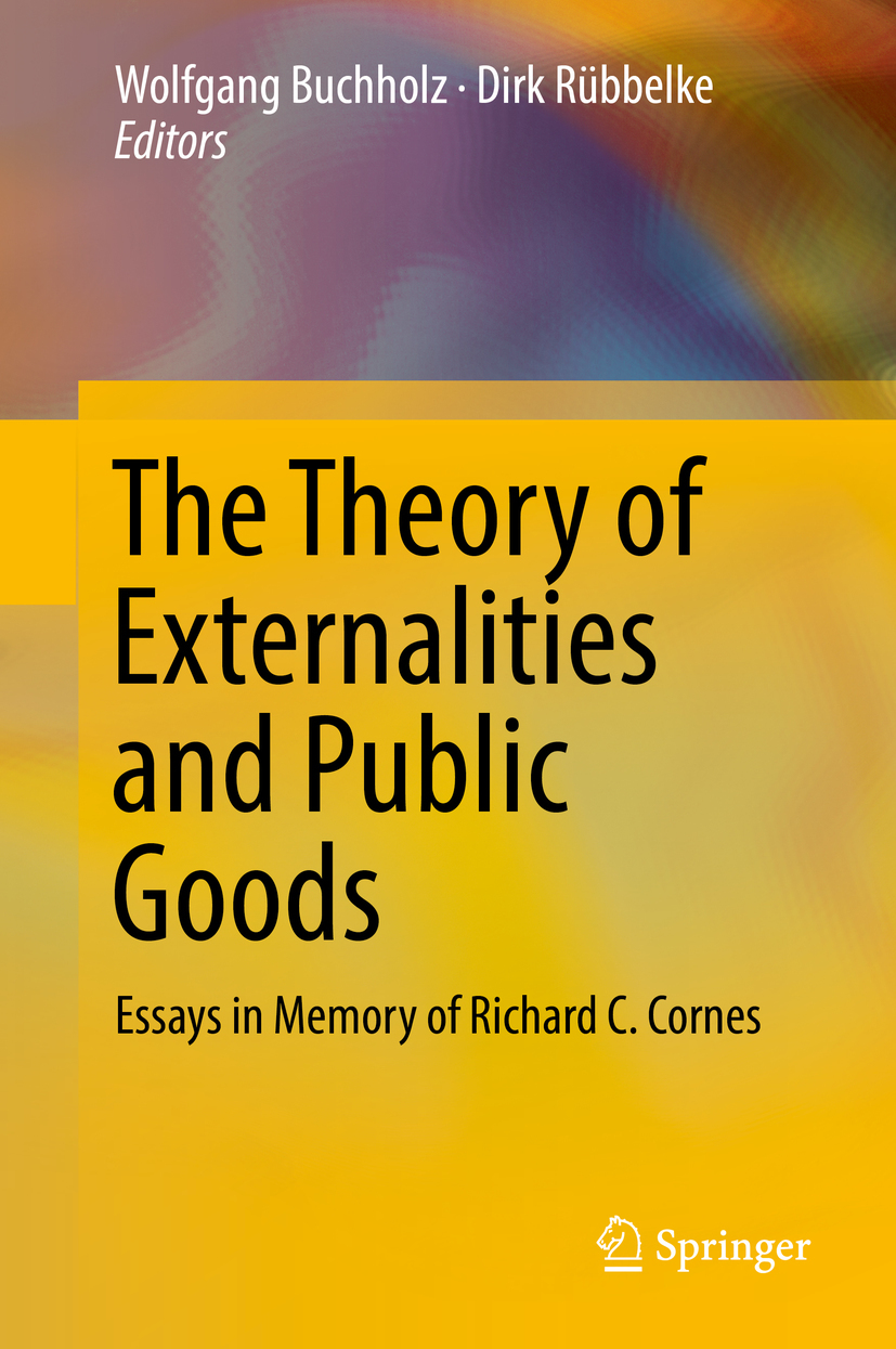 Buchholz, Wolfgang - The Theory of Externalities and Public Goods, ebook