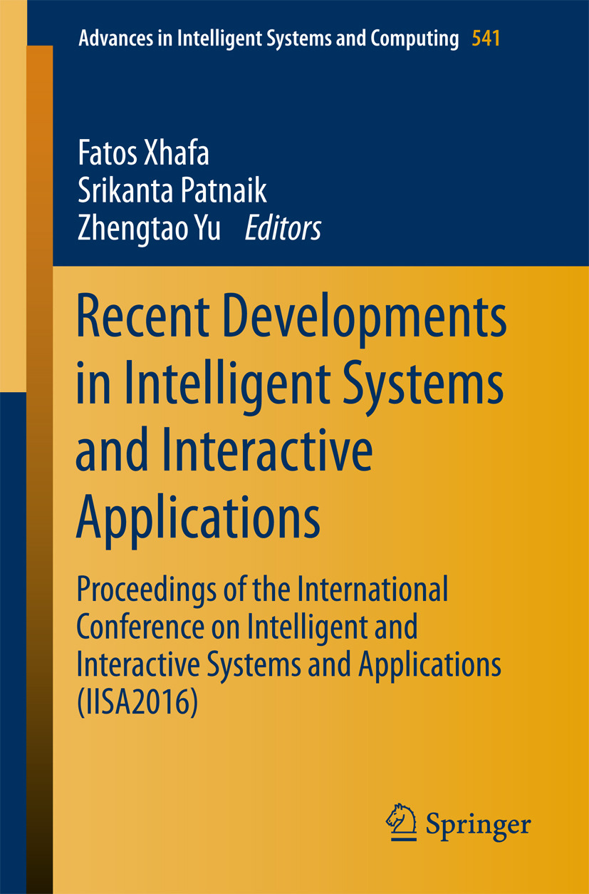 Patnaik, Srikanta - Recent Developments in Intelligent Systems and Interactive Applications, ebook